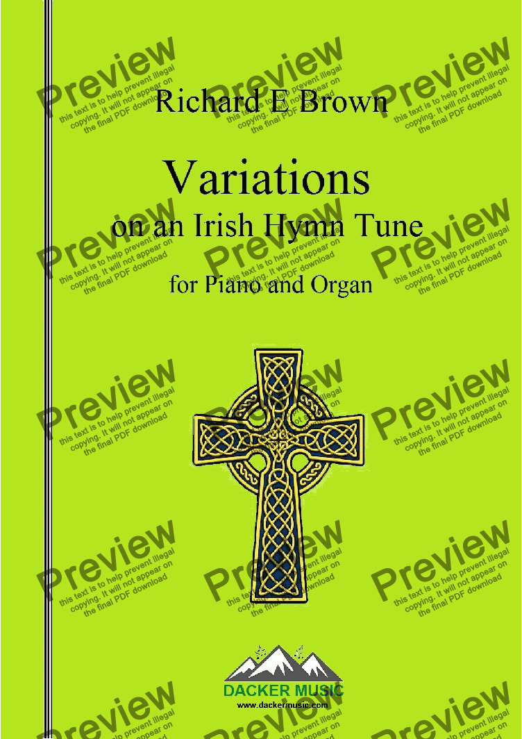 page one of Variations on an Irish Hymn Tune - piano & organ