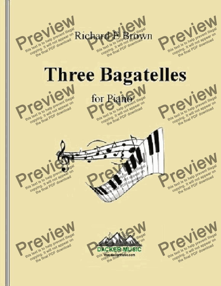 page one of Three Bagatelles
