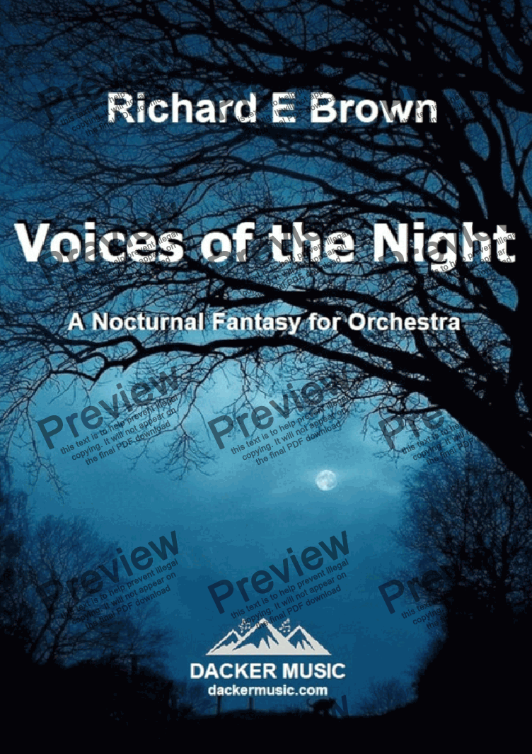 page one of Voices of the Night