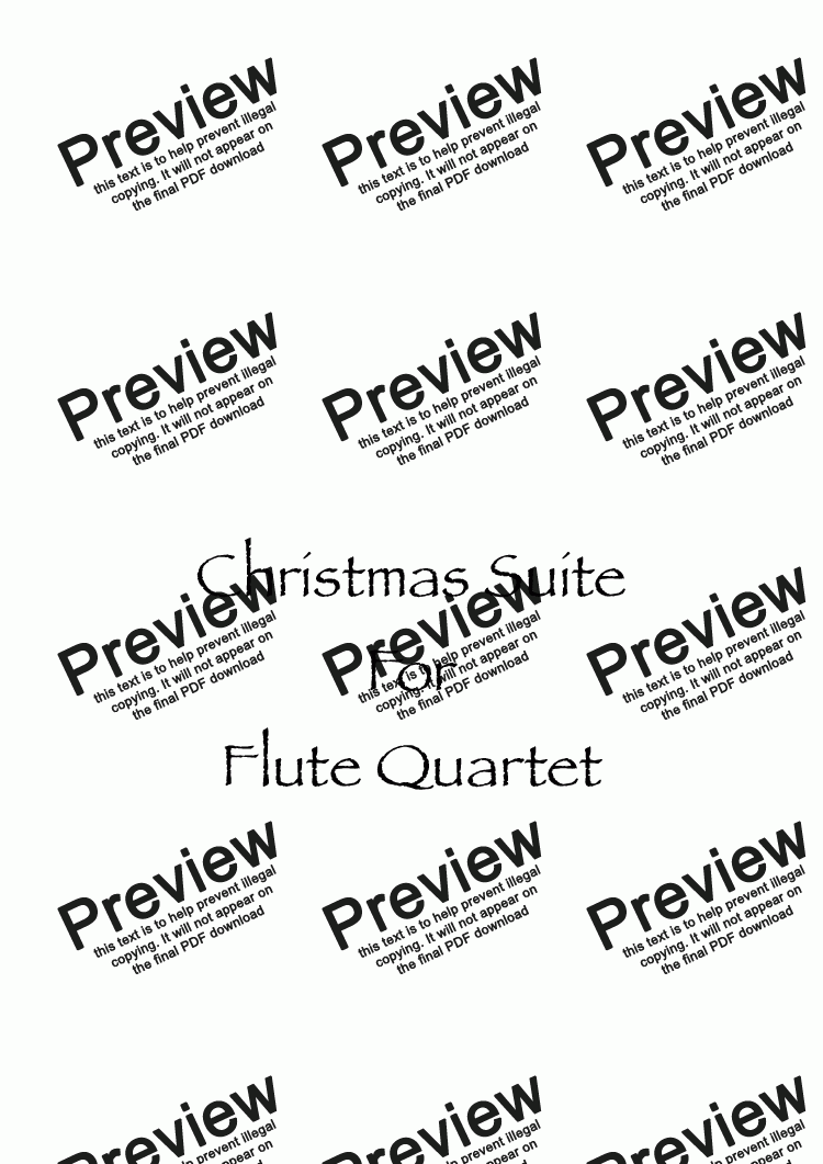 page one of Christmas Suite