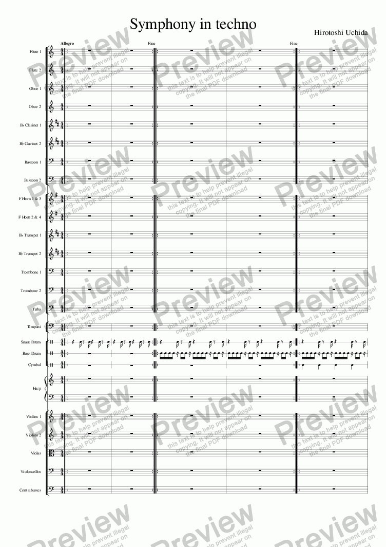 page one of Symphony in techno