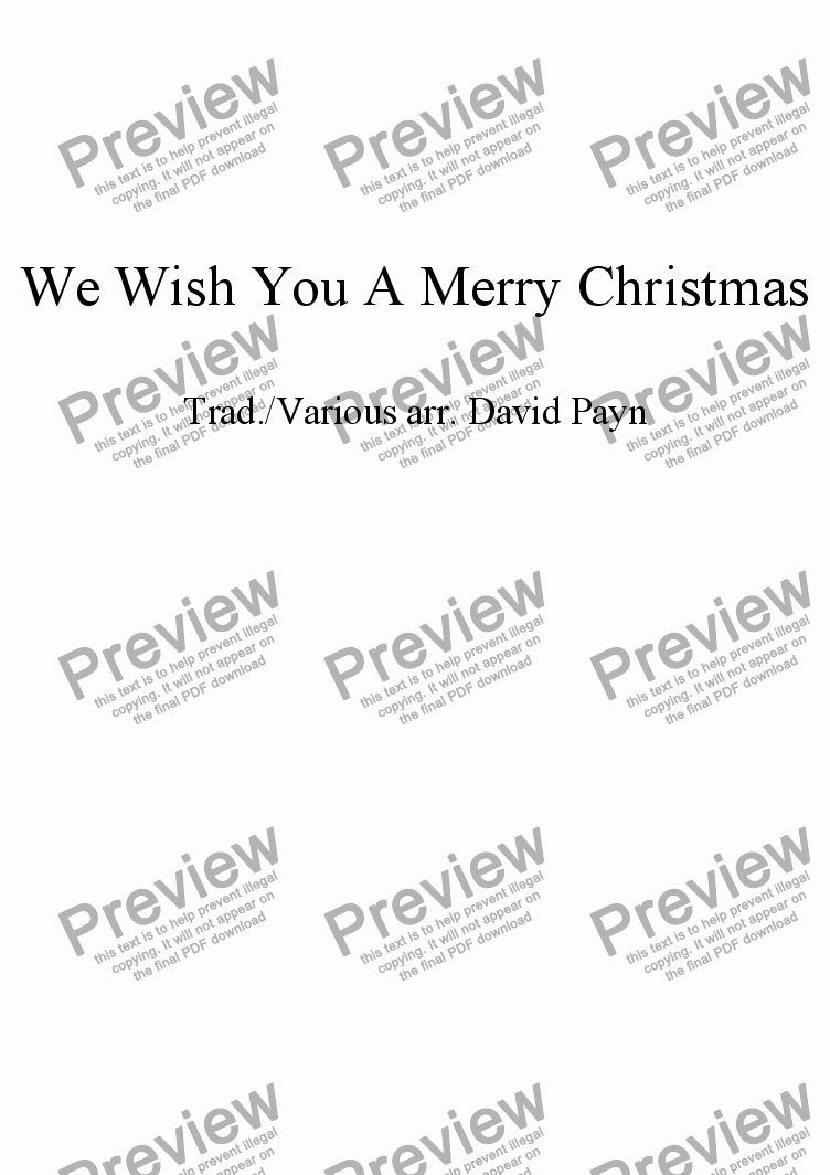 page one of We Wish You A Merry Christmas Medley