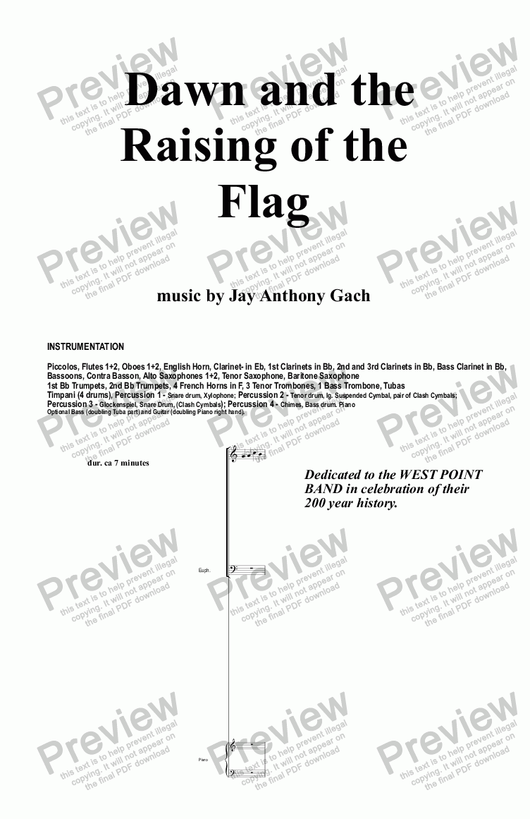 page one of Dawn and the Raising of the Flag