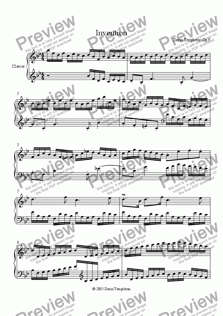 page one of Invention Op. 9