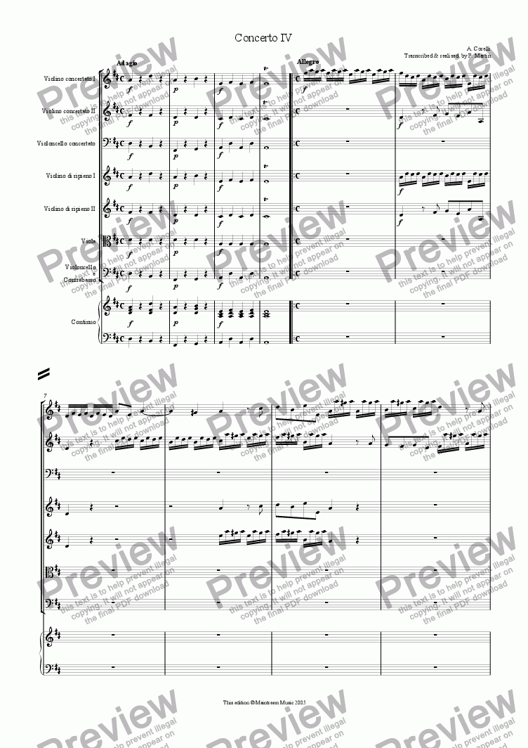 page one of Concerto IVASALTTEXT