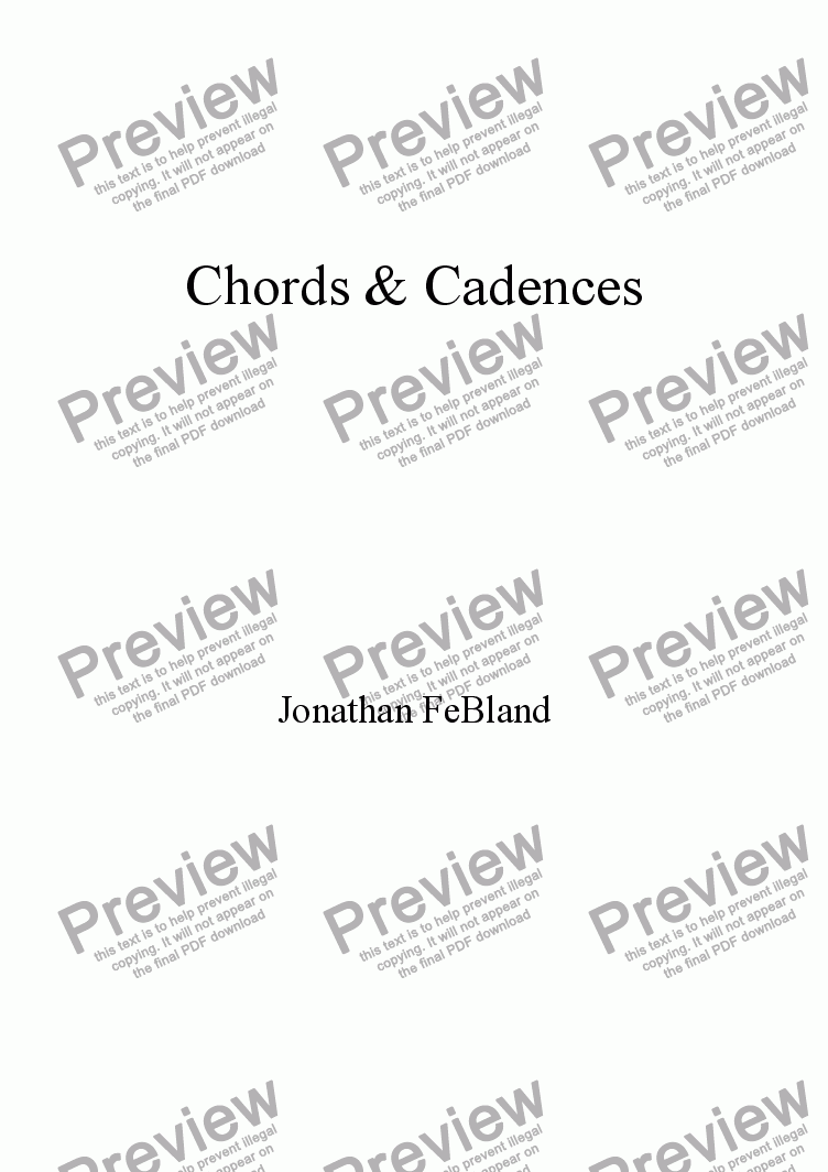 page one of Chords & Cadences
