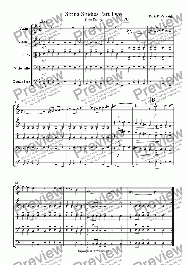 page one of String Studies Part Two