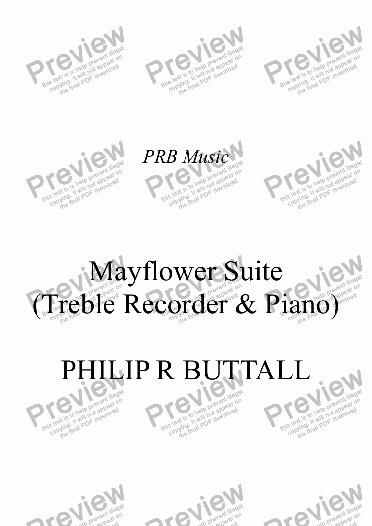 page one of Mayflower Suite