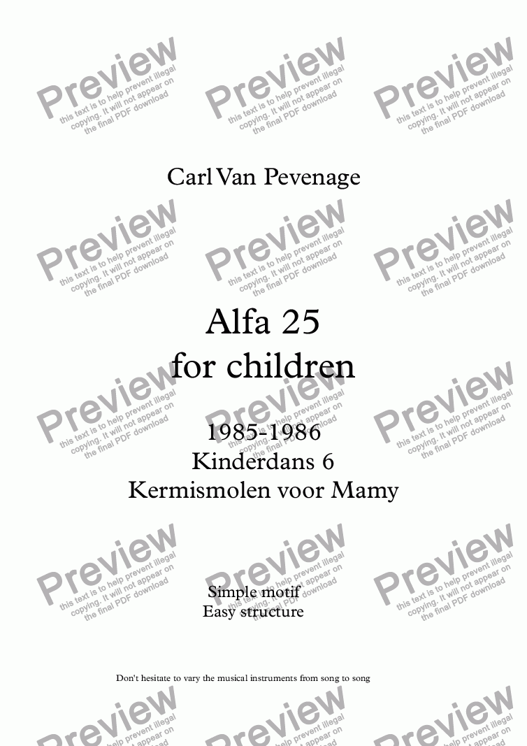 page one of Alfa 25 - Orff Ensemble (Kinderdans)