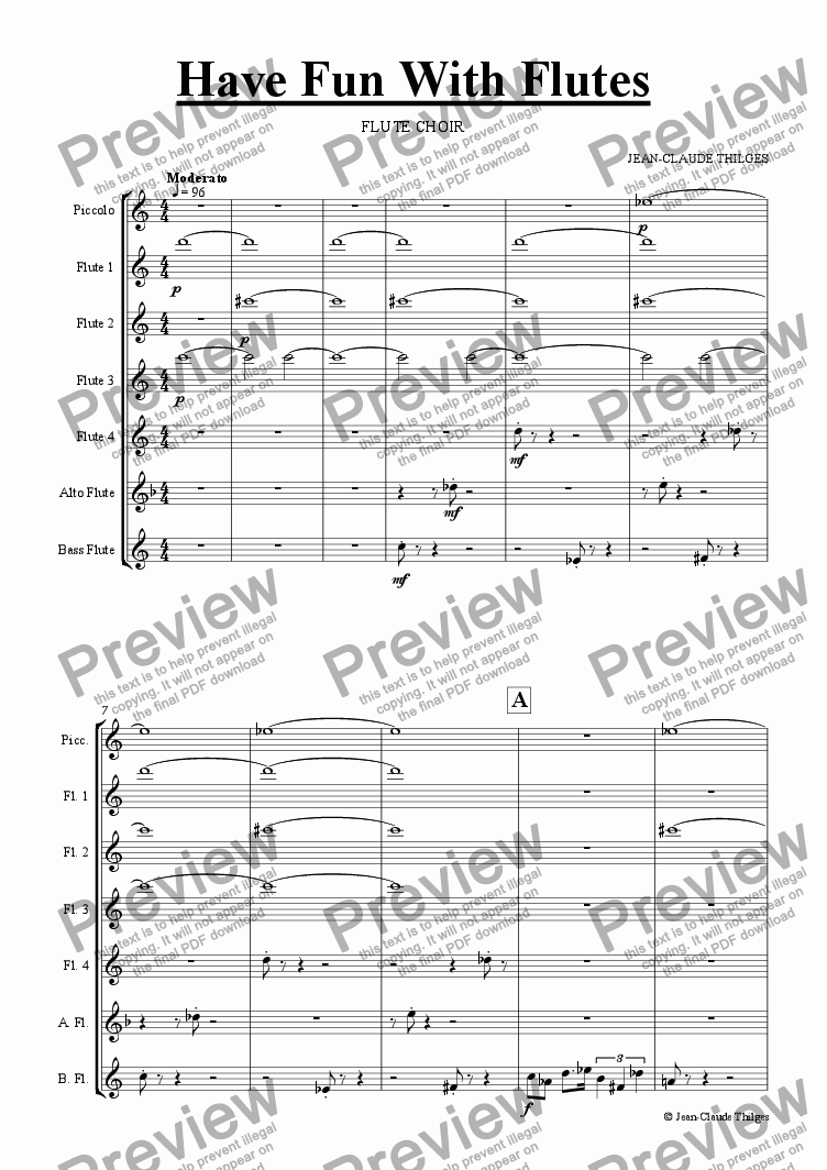 page one of Have Fun With Flutes