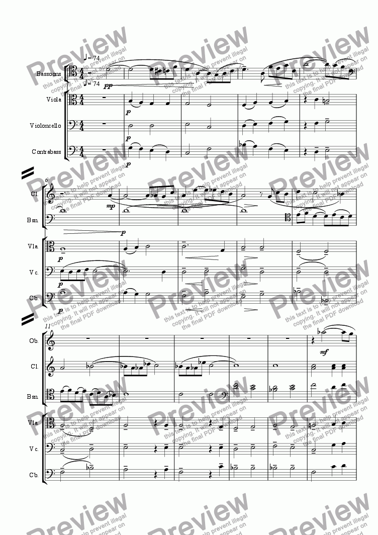 page one of Symphony in One Movement