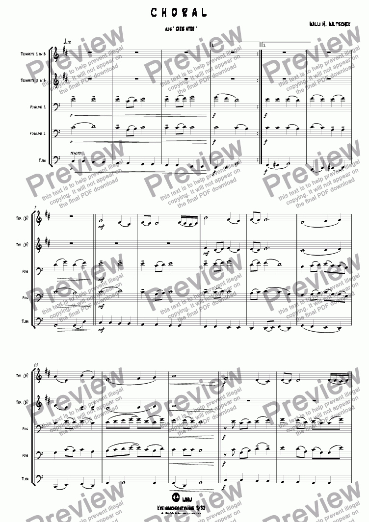 page one of CHORAL from DIES ATER
