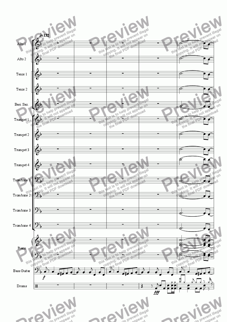 page one of Night Life - Big Band