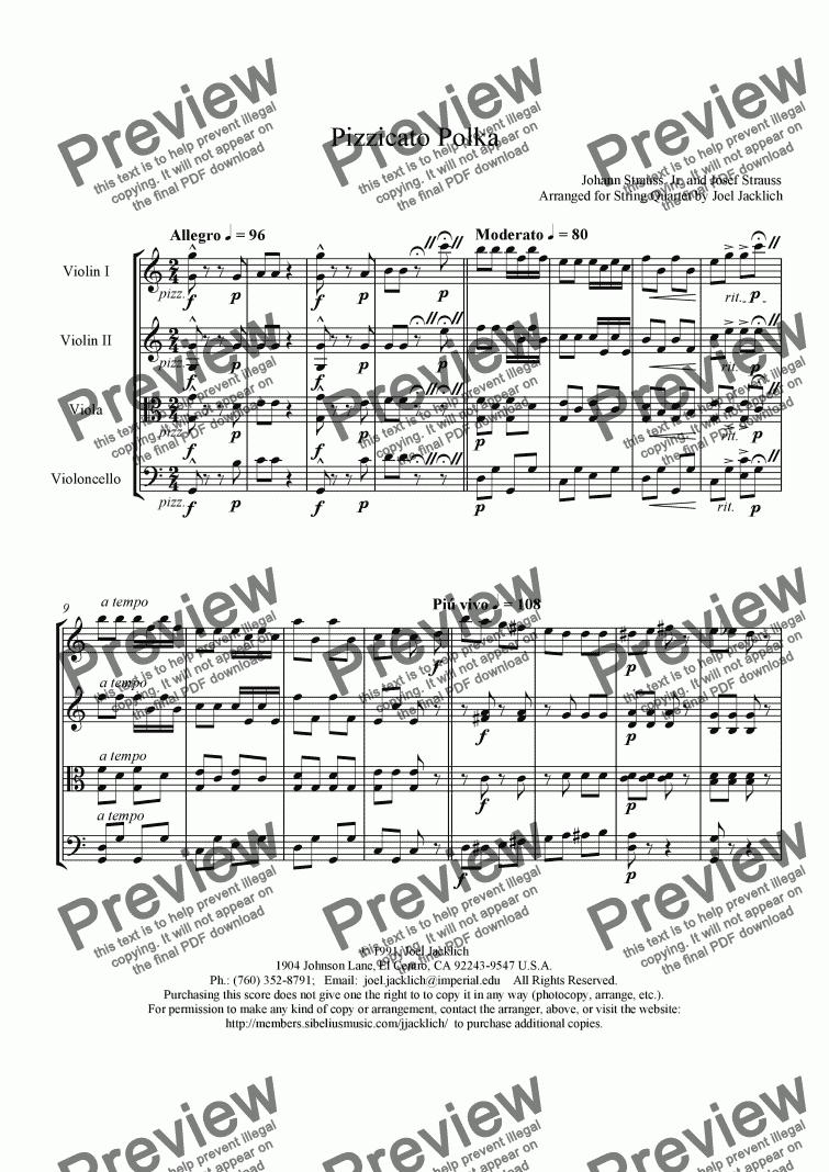 pizzicato polka string quartet