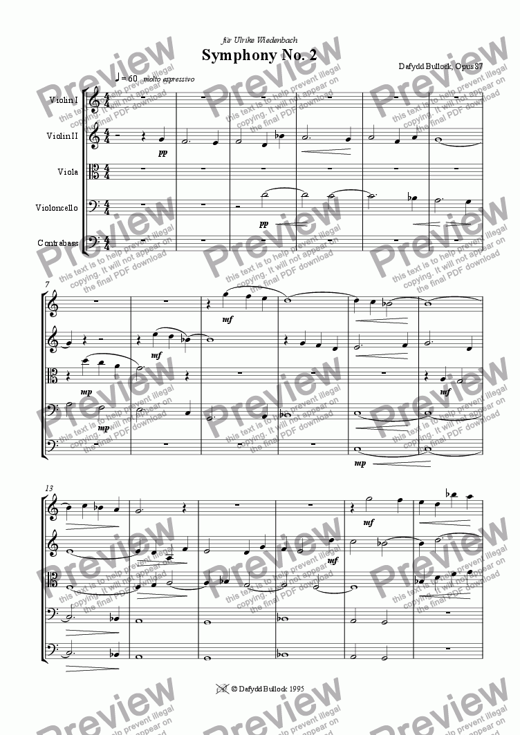 page one of Symphony No 2  1