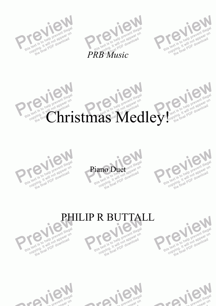 page one of Christmas Medley! (Piano Duet)