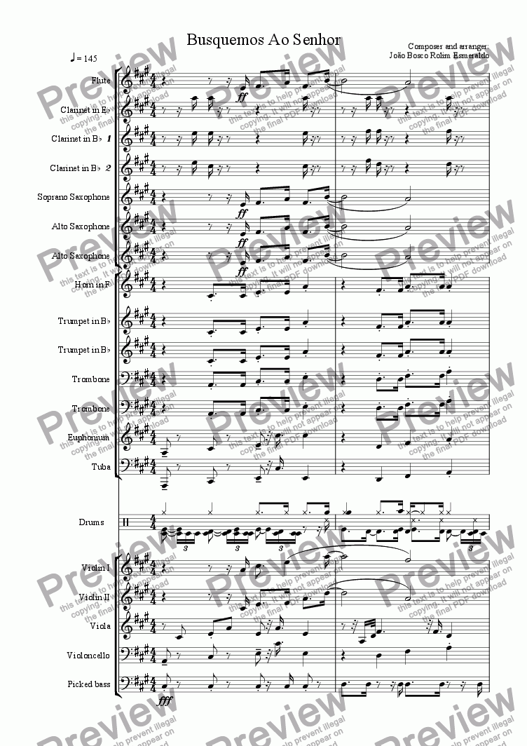 page one of Busquemos Ao Senhor - For Orchestra
