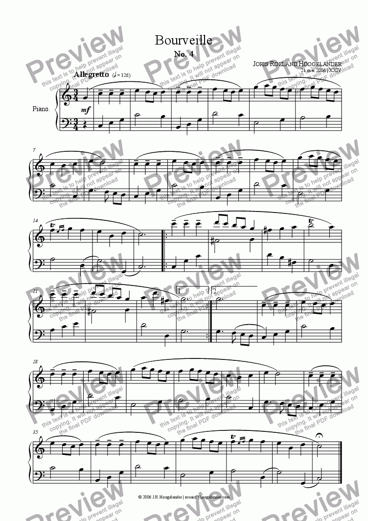 page one of Bourveille No. 4