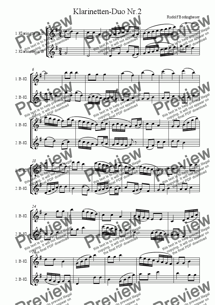 page one of Klarinetten-Duo Nr.2