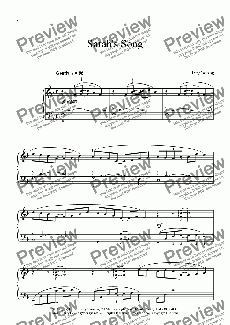 page one of 3 Easy Pieces for pianoASALTTEXT
