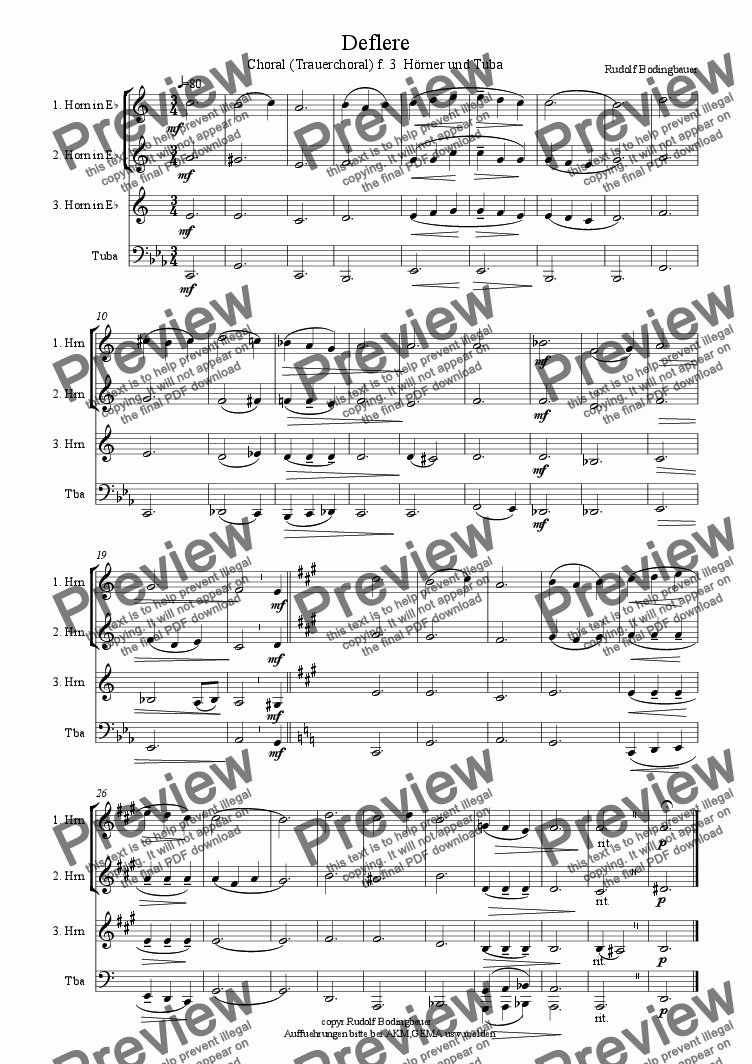 page one of Deflere  3 H�rner u. Tuba
