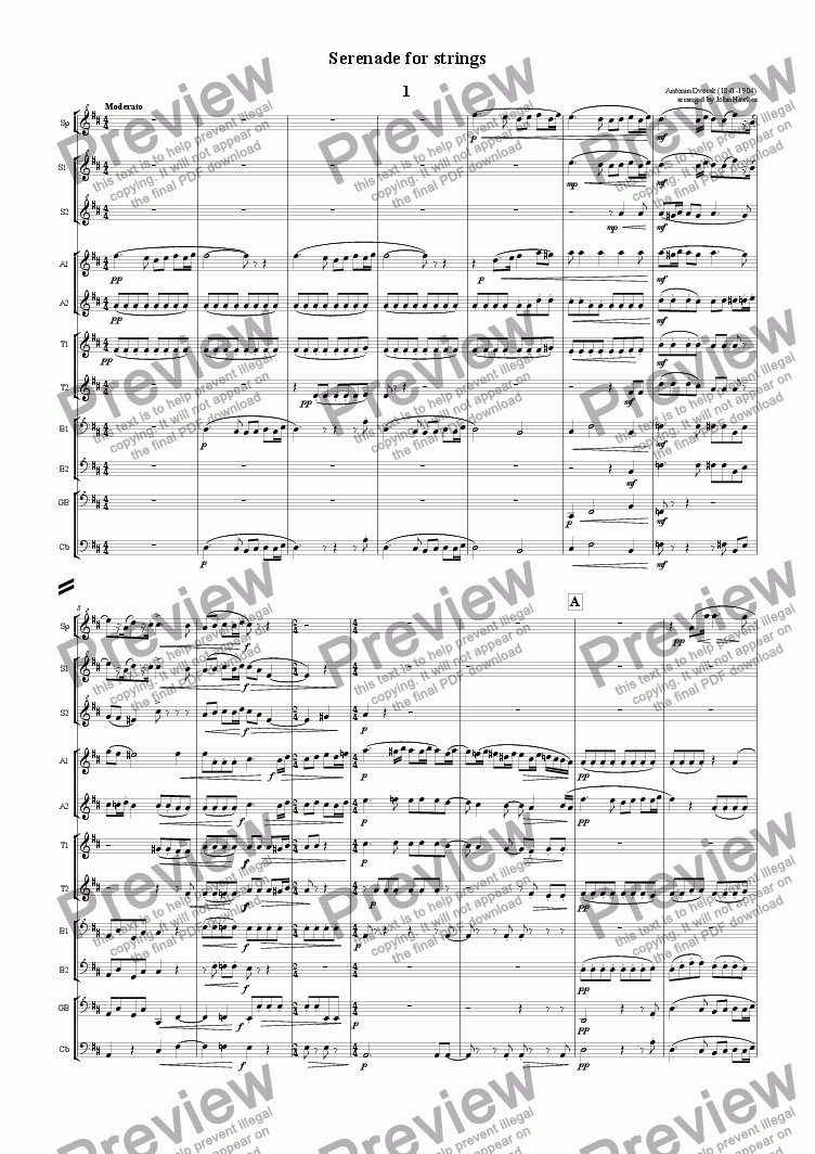 page one of Dvorak: SerenadeASALTTEXT