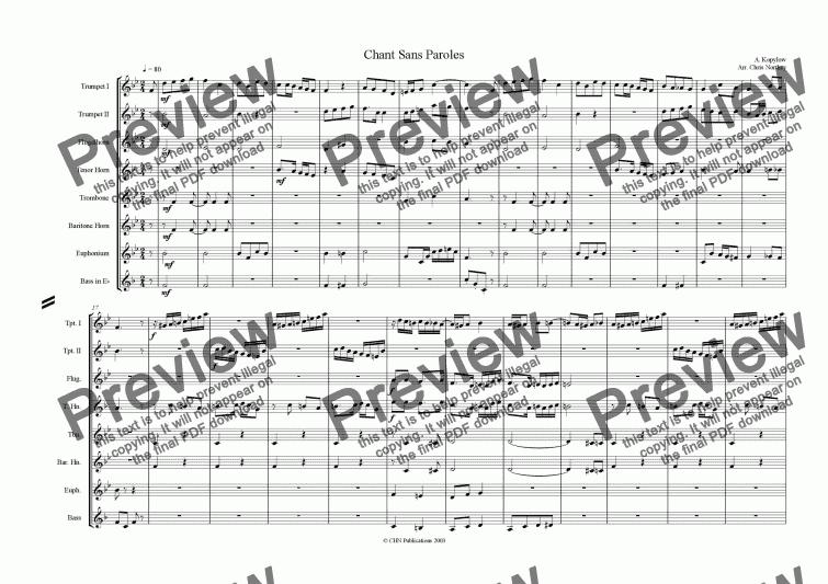 Chant Sans Paroles Download Sheet Music Pdf File