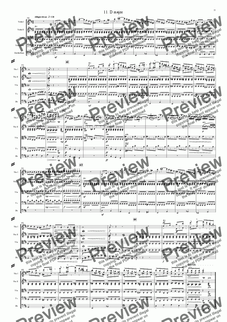 page one of Symphony No 32 11th movement