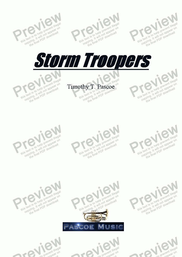 page one of Storm Troopers (Brass Band)
