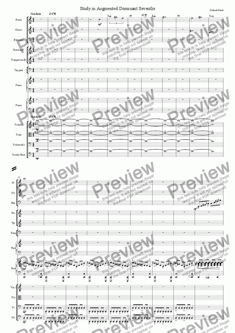 page one of Study in Augmented Dominant Sevenths