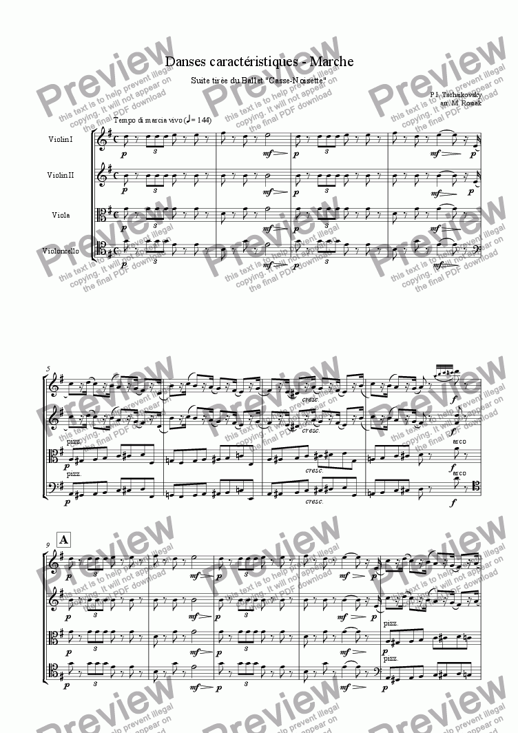 page one of March from the Nutcracker Suite
