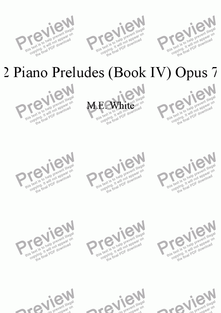 page one of 12 Piano Preludes (Book IV) Opus 77