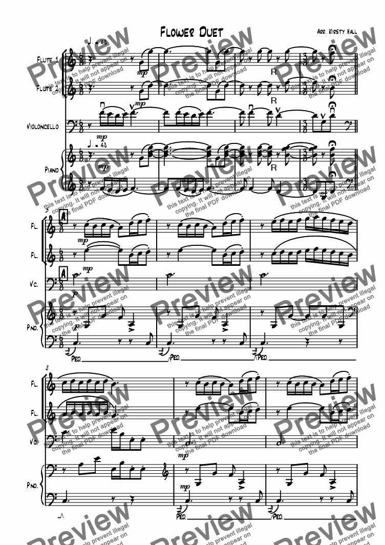 page one of Flower Duet (flute Duet)