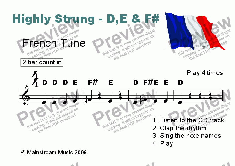 page one of Highly Strung - French Tune