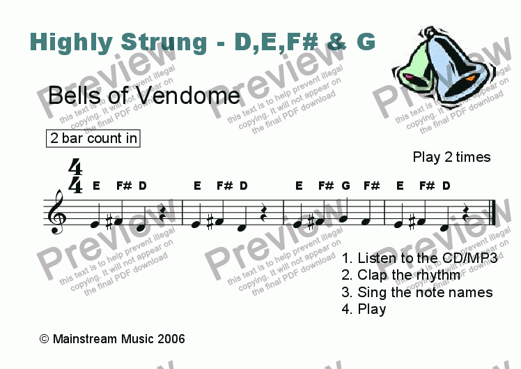 page one of Highly Strung - Bells of Vendome