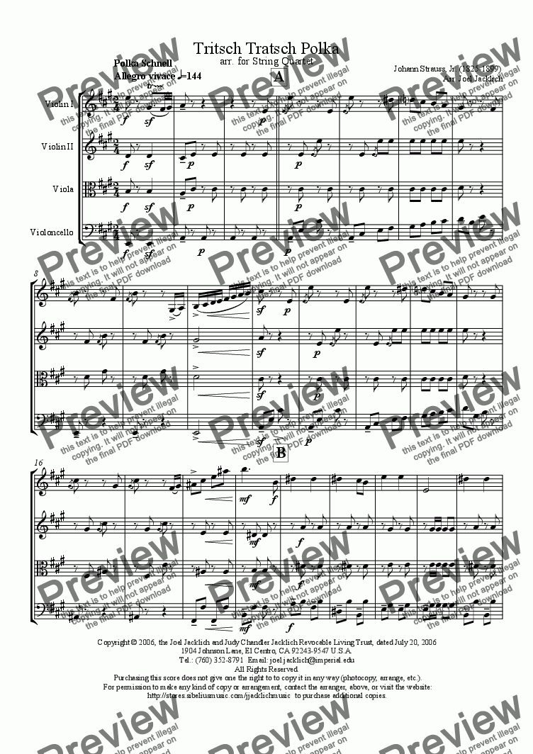 page one of Tritsch Tratsch Polka