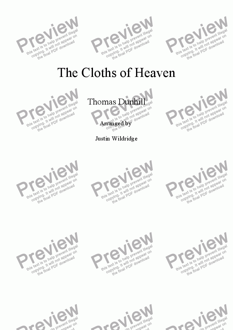 page one of The Cloths of Heaven