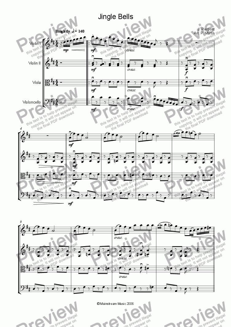page one of Jingle Bells