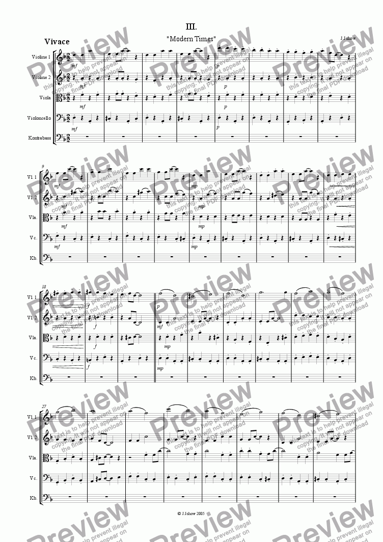 page one of Patchwork (Symphony for Strings) Part 3