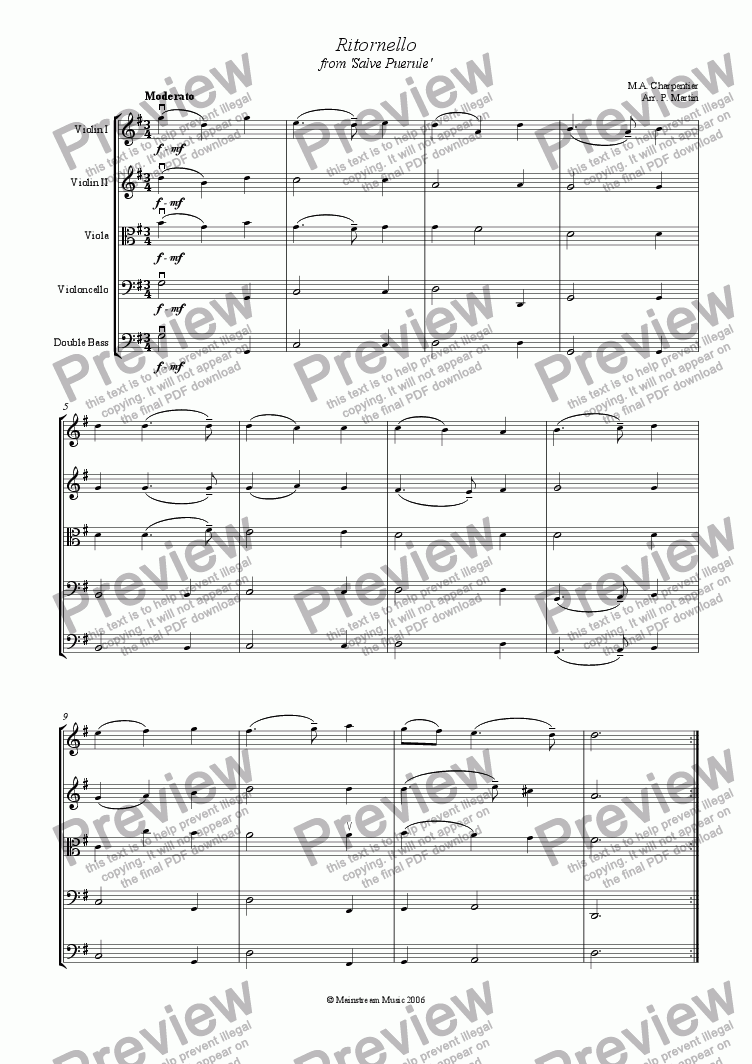 page one of Ritornello from 'Salve Puerule'