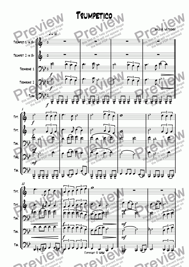 page one of TRUMPETICO