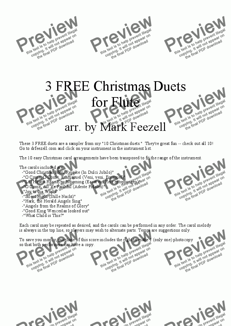 page one of Christmas Music (Flute Duets)