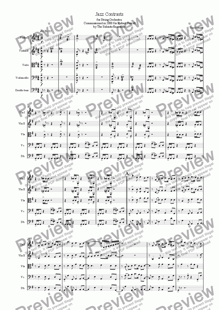 page one of Jazz Contrasts