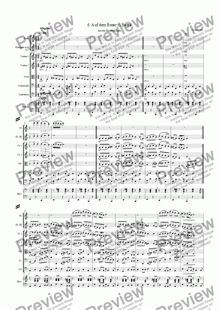 page one of Sindbad-Suite 06 (Basra - Orchestra)