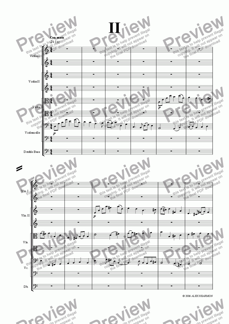 page one of Prelude, Fugue and Allegro - 2