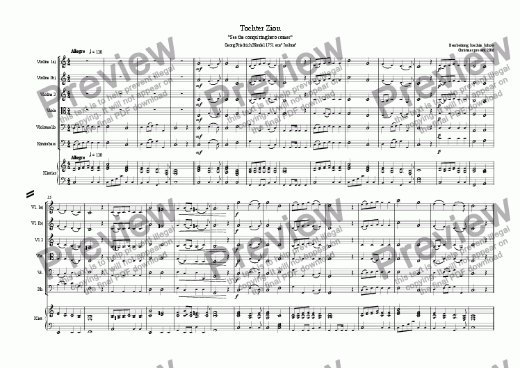 page one of Christmas Music 4 (Tochter Zion - See the conqu´ring)