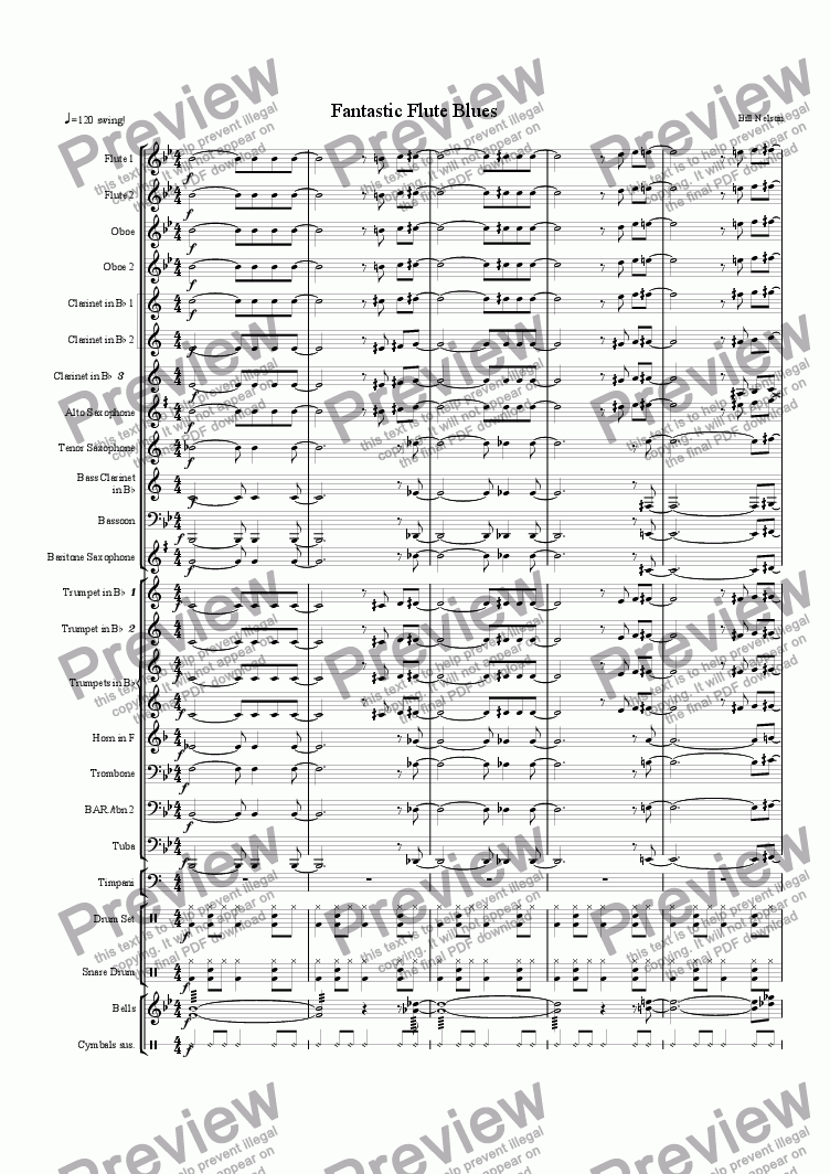page one of Fantastic Flutes