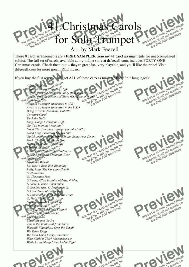 Christmas Carols Trumpet Download Sheet Music Pdf File