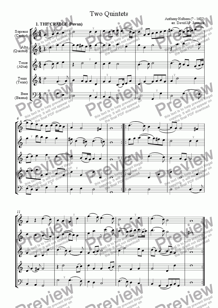 page one of Two Quintets