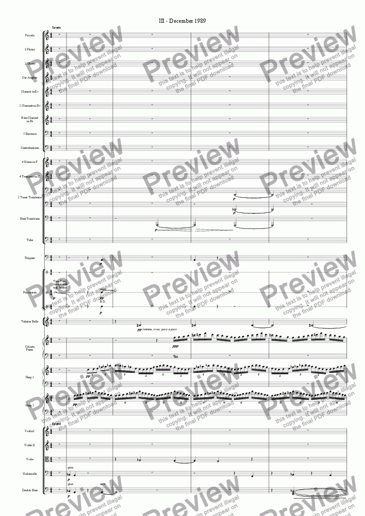 page one of Symphonie Novocastria - III - December 1989